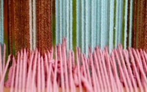 threads on a loom