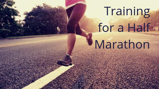 Training for a half marathon title graphic