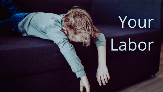 your labor title graphic