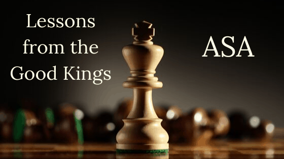 Lessons from the Good Kings Asa title graphic
