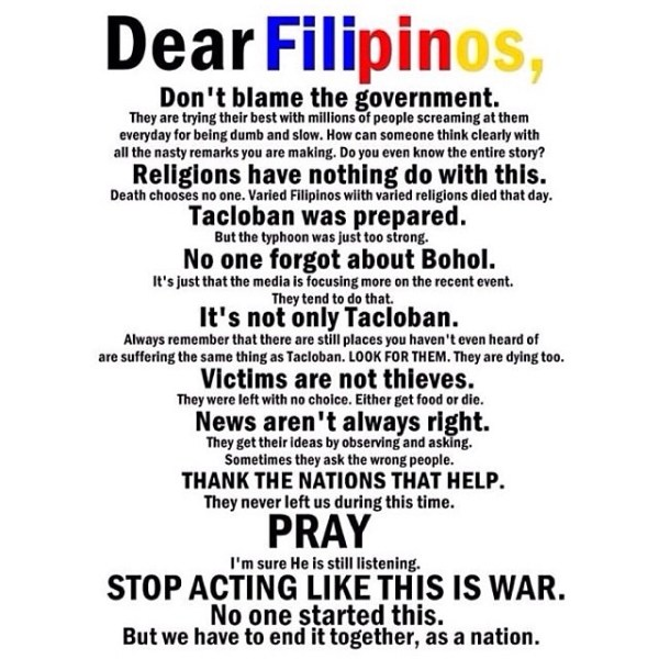 message to filipinos
