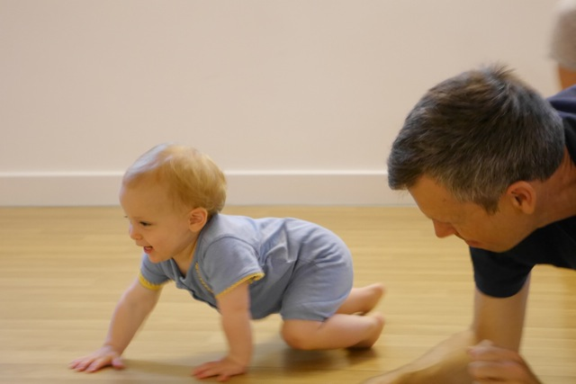 Crawling Baby Bare Feet