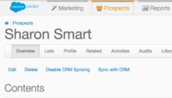 Click Sync with CRM in the blue text above