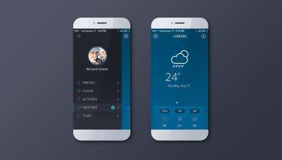 Weather app blue