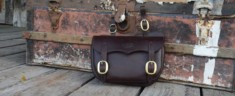 Image of a saddle bag handcrafted by Paul Buckland