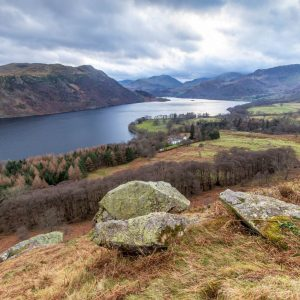 Looking down Ullswater from Gowbarrow Fell