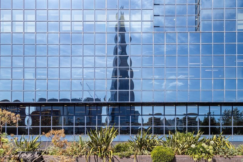 The Shard reflected