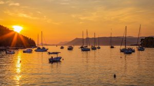 Cavtat as the sun goes down