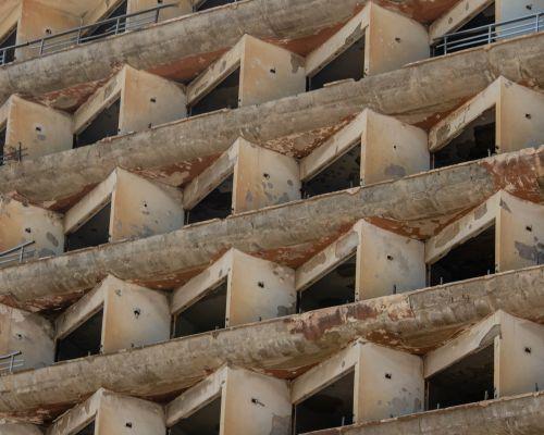 Hotel balconies, Famagusta