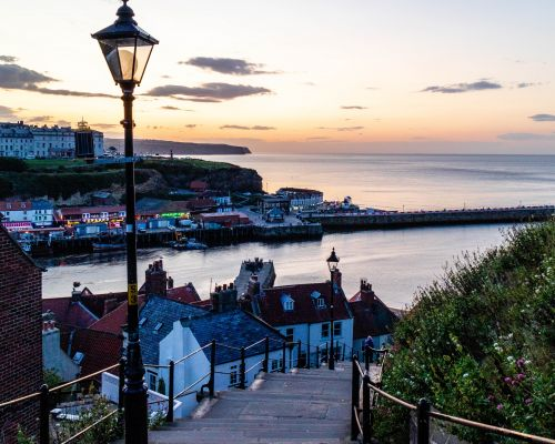 Classic view of Whitby from the 199 steps