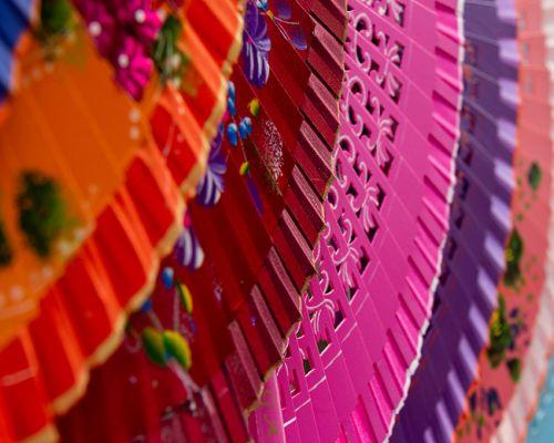 Coloured fans