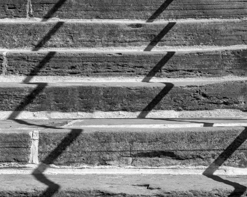 Shadows on the 199 steps