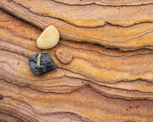 Three rocks on rock