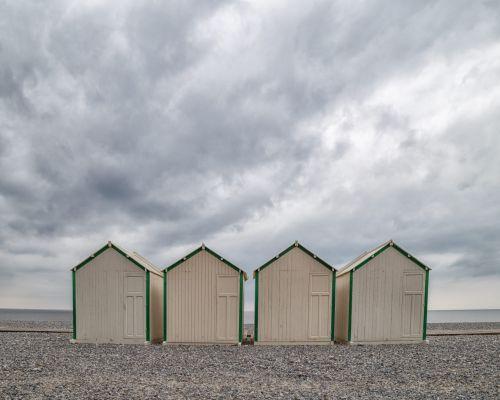 Beach huts at Cayeux-sur-Mer