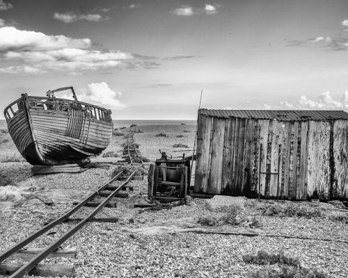 Redundant Boat at Dungeness