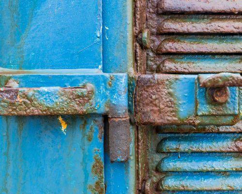 Door Hinge on Tractor