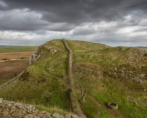 Looking along Hadrian's Wall
