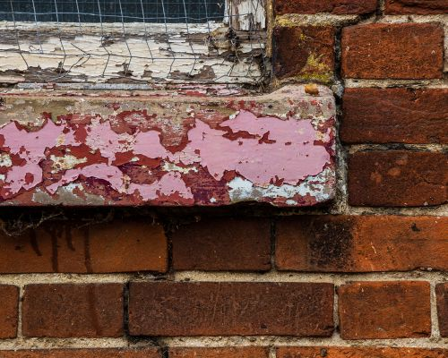 Church window ledge