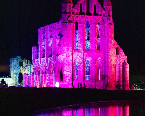 The Abbey reflected