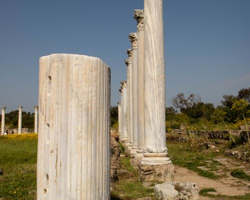 Temple pillars at Salamis, Northern Cyprus