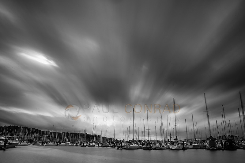 © Paul Conrad/Pablo Conrad Photography - Long exposures of incoming storm over Squalicum Harbor in Bellingham, Wash., on Tuesday October 28, 2014.