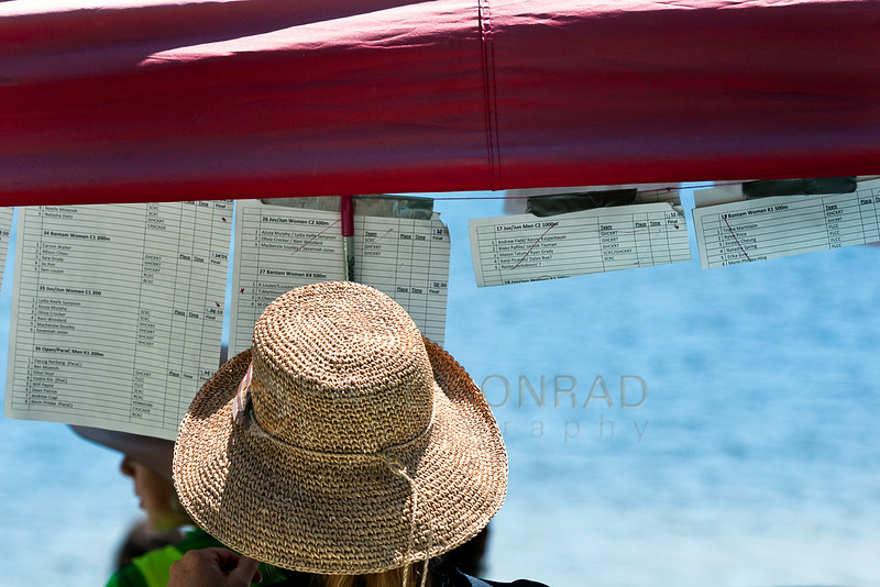 © Paul Conrad/The Bellingham Herald - Elana Eckert with the Bellingham Canoe & Kayak Sprint Team keeps tracks of the races and stats during 2014 Bellingham Regatta hosted by the BCKST on Lake Padden on Saturday  morning June 14, 2014, in Bellingham, Wash.