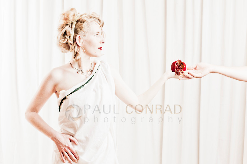 © Paul Conrad/Pablo Conrad Photography - Greek goddess Persephone daughter of Zeus being tempted by Hades. Queen of the Underworld and vegetation goddess.
