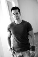 black and white portrait Jake Cope TLC Single Dad Seeking