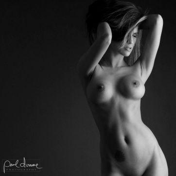 black and white art nude woman SLC, Utah