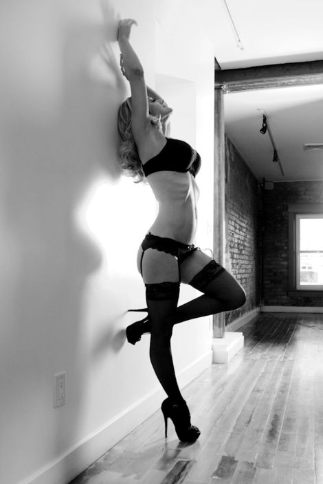 black and white boudoir portrait SLC Utah