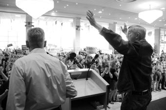 Governors Bill Weld & Gary Johnson at rally in SLC, Utah