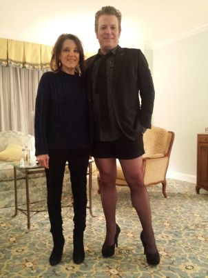 Author Marianne Williamson and comedian / podcaster Paul Duane