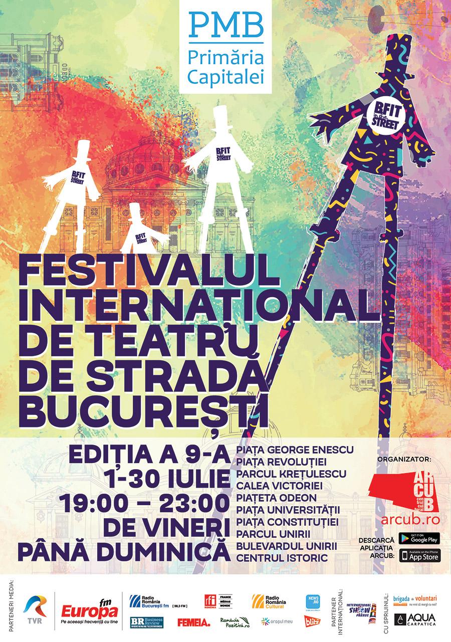 Festivalul International de Teatru de Strada B-fit in the Street_Afis