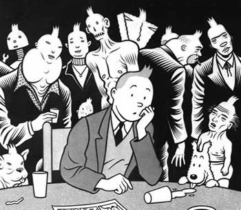 Tintin by Charles Burns