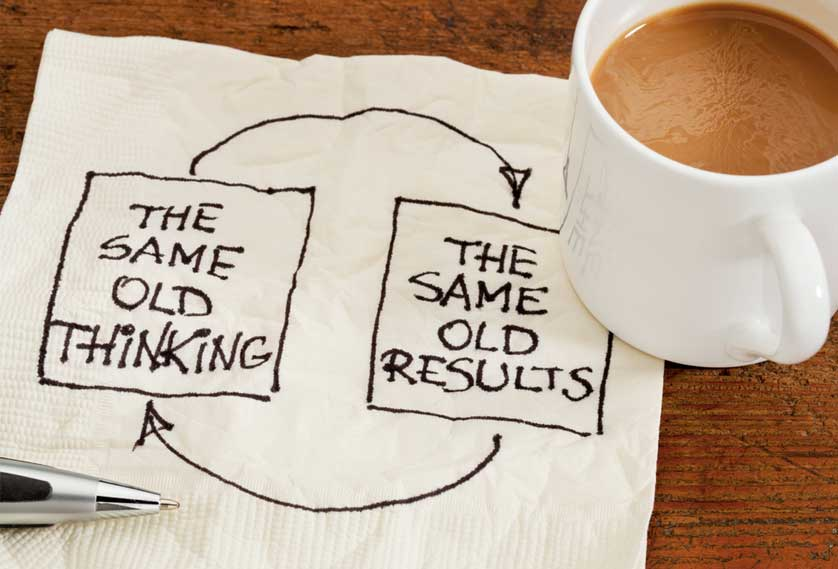 Same old thinking = same old results
