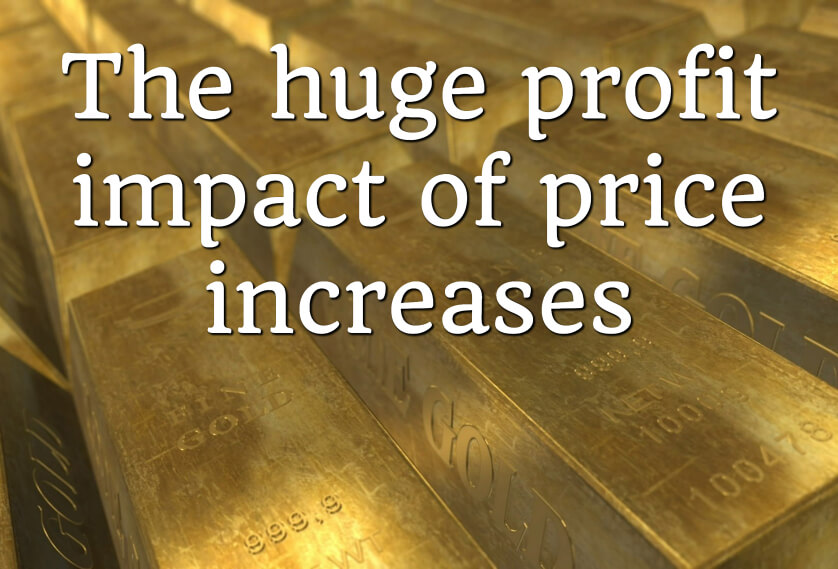 The huge profit impact of price increases