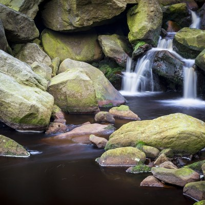 Greenfield Brook Waterfall, Peak District Photograph Peak District Landscapes Colour Photo