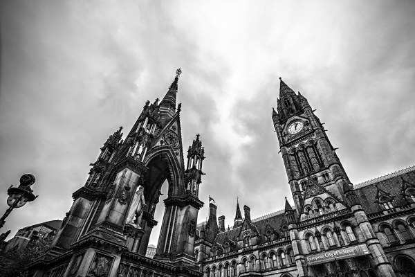 Manchester Town Hall, Black & White Photographic Print Manchester Landscapes Architecture