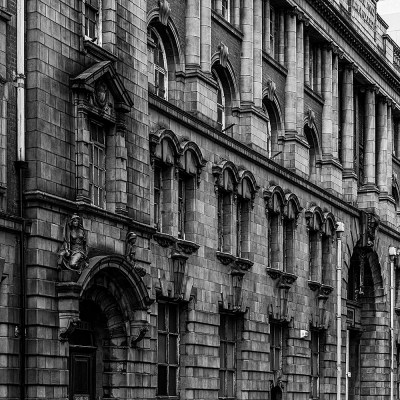 London Road Fire Station, Manchester. Black & White Photography. Manchester Landscapes Architecture