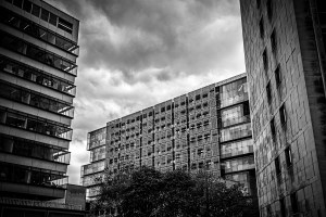 Three Towers, Manchester, Black and white landscape Manchester Landscapes Architecture