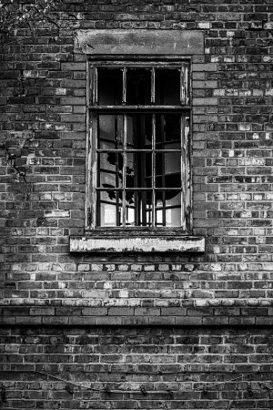 Urban decay Manchester, black and white photograph Manchester Landscapes Architecture