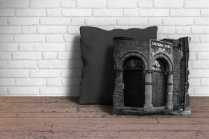 Salford Lads Club Cushion Poster Art and Gift Ideas 100% cotton