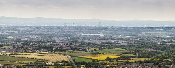Manchester Skyline taken from Holcombe Hill Panoramic Landscapes Bury