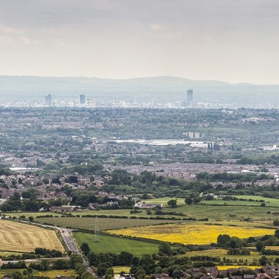 Holcombe Hill Skyline Colour Panoramic Landscapes Bury