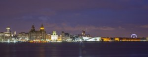 Liverpool Skyline Panoramic Canvas Panoramic Landscapes Canvas