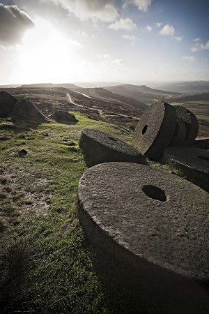Early Morning Light Over Millstones At Stanage Edge, Premium Collection Peak District Landscapes Clouds