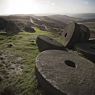 Early Morning Light Over Millstones At Stanage Edge Peak District Landscapes Clouds