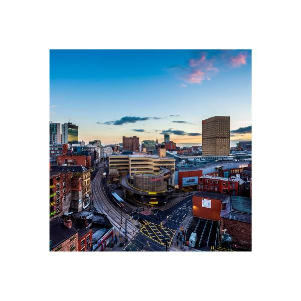Manchester Skyline at Sunset   Micro Manchester Series Micro Manchester colour 3