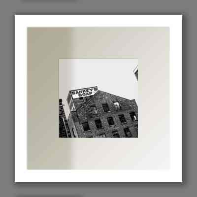 Sankey's Soap Print | Micro Manchester Series Micro Manchester Black and White