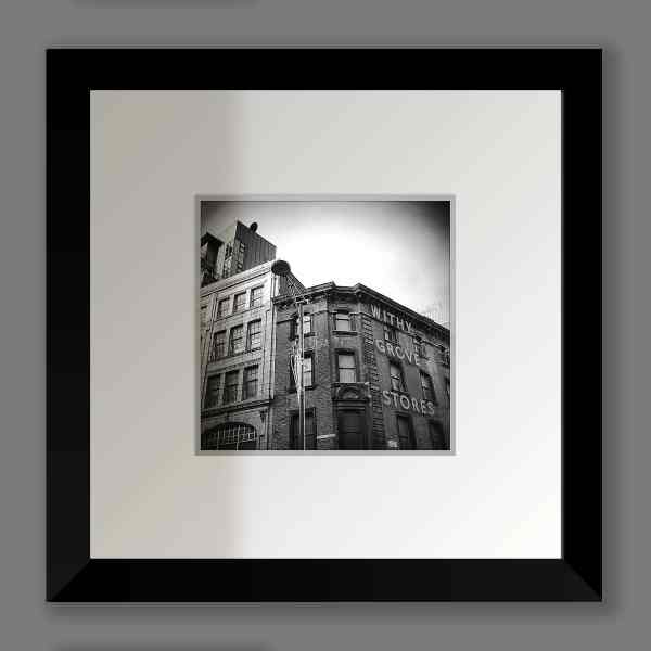 Black and White Withy Grove Stores Print, Shudehill | Micro Manchester Series Micro Manchester colour 2
